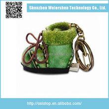 New design Support Multi-system Leather shoe bulk cheap metal gun usb flash drive
