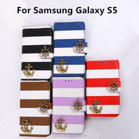 New products phone case for samsung galaxy s5 made in china Cool Pirate ship cover Stand Flip
