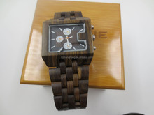 Naturally and Eco-friendly wooden watch made by black sandel wood