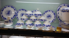 Wholesale blue and white tableware bowl with Chinese culture for home use