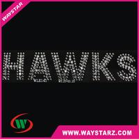 Fashionable Crystal Letters Rhinestone Hotfix Motif Design For School ' s Girls T shirt
