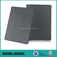 Polka Dot pattern Super Slim PU Smart Cover Case with Hard Rubberized Back Case for Apple ipad Air 2 / ipad 6