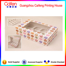 Rectangle colorful cupcake box,packaging box