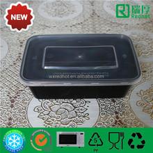 650ml PP transparent plastic food container /self locking food container