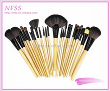 factory price cosmetic brushes 24 makeup brush set wood brush/high quality black make up brushes
