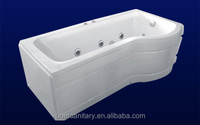 2015 new design factory produced best cheap besutiful acrylic fiberglass whirlpool massage bathtub