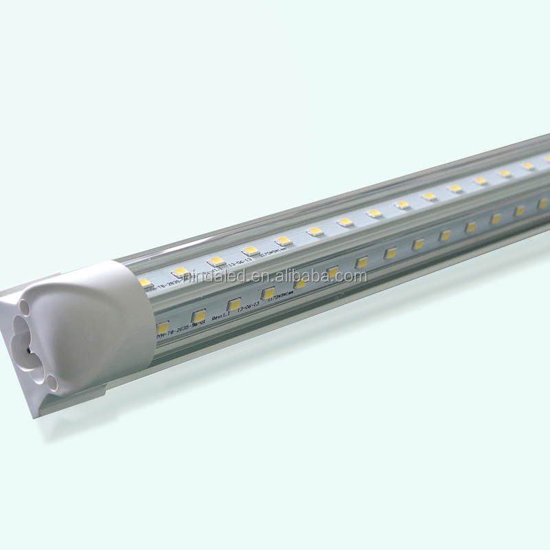 Led Light Fixtures For Walk In Cooler: Super Bright V Type 44w 8ft Led Freezer Cooler Tube Light