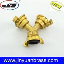 Brass Garden coupling pipe Y connector garden brass fitting for garden hose Y adapter 3 way coupler