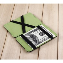 Promotional gift synthetic faux leather slim wallet custom magic wallet