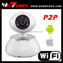 Home Use P2P Pan/Tilt Mini H.264 1 Megapixel Wifi IR PTZ IP Camera