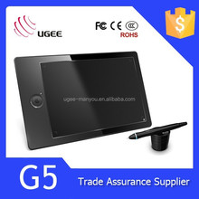 Ugee G5 pen tablet for drawing with 9x6 Active Area/2048 level/5080 LPI/8GB memory card/Rechargable Pen