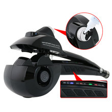 New Design Fashion Pro Steam Spray Magic Hair Curler Multifunctional Black Automatic Steam Hair Curl Styler