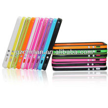 New arrivals metal keypad colored gel bumper for iPhone 5