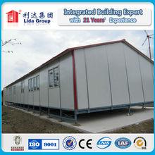 Color steel sandwich panel prefabricated house for worker dormistroy
