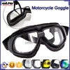 BJ-GT-007 High Quality Black Leather Clear Lens Goggles Motocross
