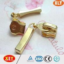 5# fancy zipper slider gold color zipper slider with auto lock zipper