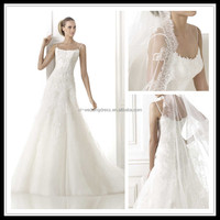 Strapless Appliqued Beaded Tulle galina wholesale wedding dress FXL-320