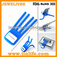Luxury design flexible promotion silicone cell phone holder