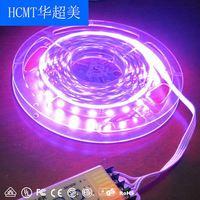 HCMT christmas lights battery 9v transparent led strip led flashlight