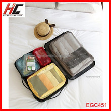 Travel organizer plastic bag set with zipper 4 in 1 set easy travel easy go