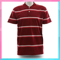 OEM service Mens Polo T Shirt With striped Design