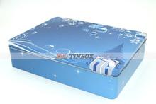 Christmas Gift Box Packaging Rectangular Metal Tin Box