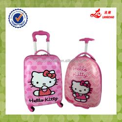 2015 China Supplier ABS Kid Travel Trolley Luggage, Cartoon Cute Kids School Bags Kids Luggage Set