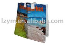 laminated pp woven shopping bag with zipper