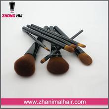 Gold supplier China wooden handle makeup brush kits