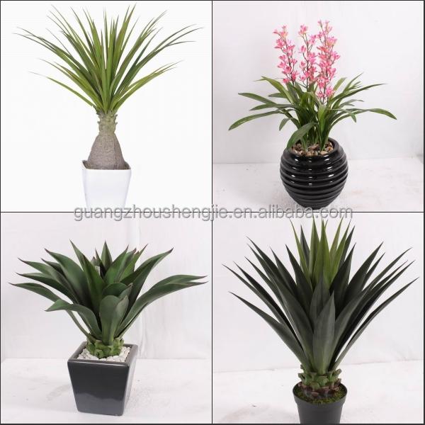 Sjh010631 shengjie artificial plants indoor plants with for Outdoor decorative plants
