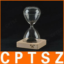 Magnetic Hourglass Timer/Sandglass with ferrous powder and powerful magnet on the basis