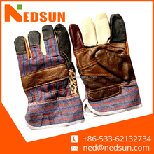 Colorful patched palm furniture leather working leather gloves