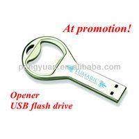 OEM Factory price can operner usb flash drive /bottle opener keychain usb