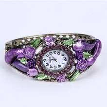 purple handmade fashion lady watch