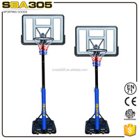 2015 new product SBA305 basketball stand,kids mini plastic basketball hoop