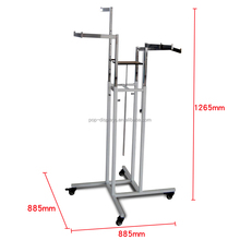 Metal Four Ways Clothing Display Rack/Stand made in China/clothes hanger
