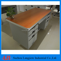 Durable powder coated cheap office desk
