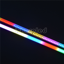 DC5V WS2812B individually addressable LED rigid digital strip aluminum PCB 30 32 60 74 96 144LEDs/m Pixel Ragid Bar led strip