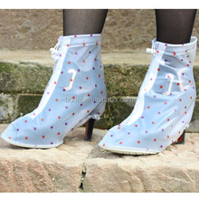 waterproof shoe cover high heels women,sexy lady high heel shoes rain cover