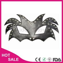 Leather or PVC sm sex toy bdsm fetish male bondage lace eye face mask
