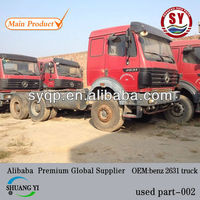 used germany mercedes benz 2631 truck red and white