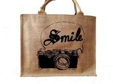 Custom fashion jute shopping bag/Jute shopping bag wholesale