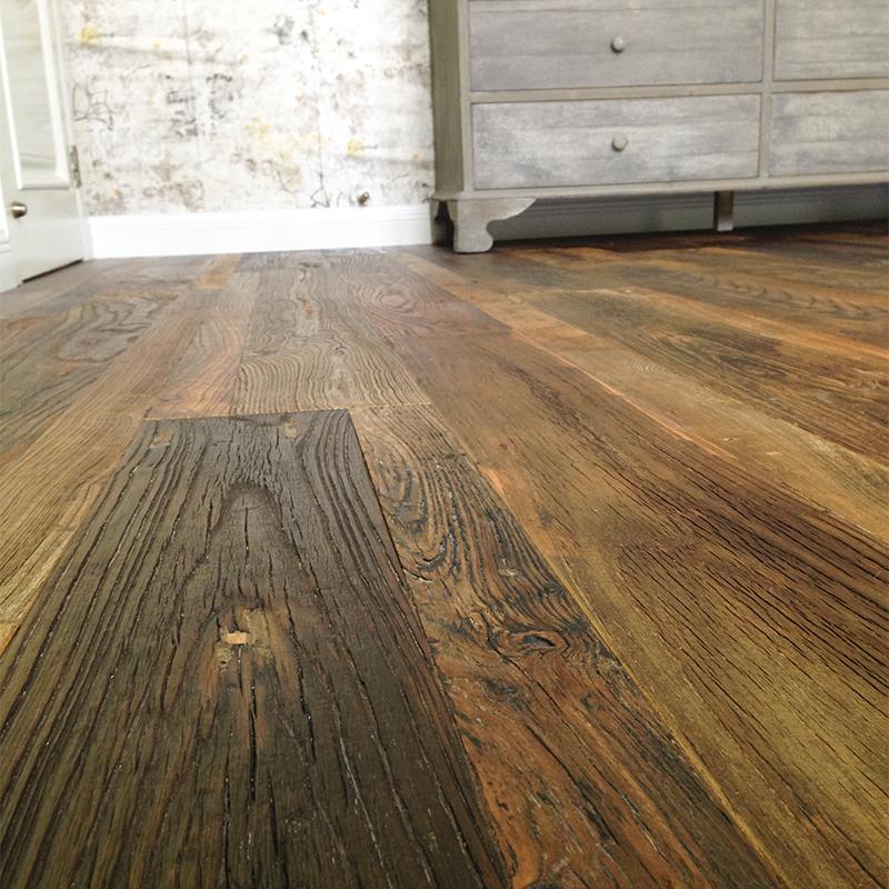 Muebles de madera recuperada único roble antiguo cepillado ingeniería pisos de madera