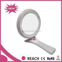 Customized electric magnifying makeup mirror / folding hand mirror with led lights / high-end led cosmetic mirror