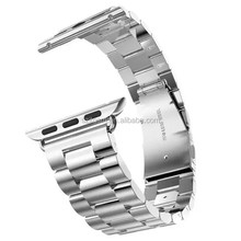 New style Polishing metal stainless steel watch band for apple watch connector 38MM/42MM