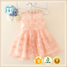 Summer new styled frock sleeveless design cotton dress for baby girl 2-10 year