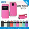 OEM&ODM stand view flip cell phone leather case for samaung galaxy NOTE 4 N910