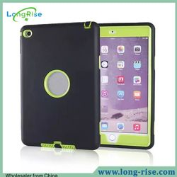 Powerful Unbreakable Protective 3 in 1 PC Silicone Hybrid Shockproof Case for iPad Mini 4