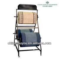 F701 Metal carpet rolling display rack