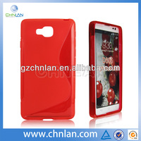 Hot selling durable soft tpu gel s line skin cover case for lg optimus l9 ii d605 case
